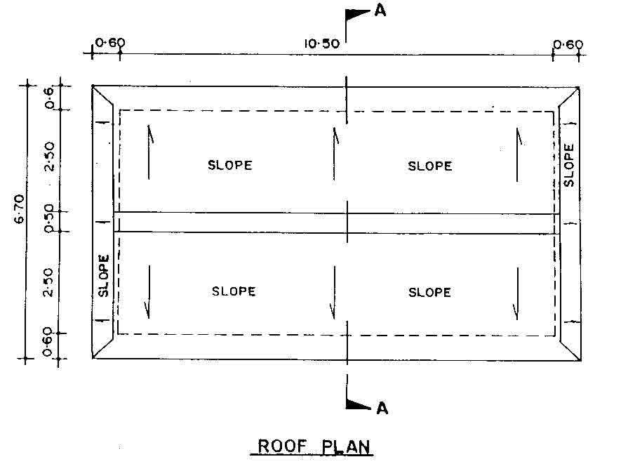 World housing encyclopedia whe for Flat roof plan drawing